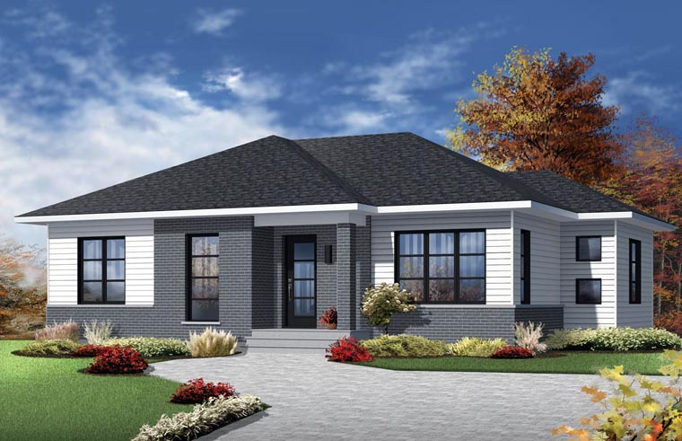Contemporary Style House Plan 76386 with 1133 Sq Ft, 2 Bed ...