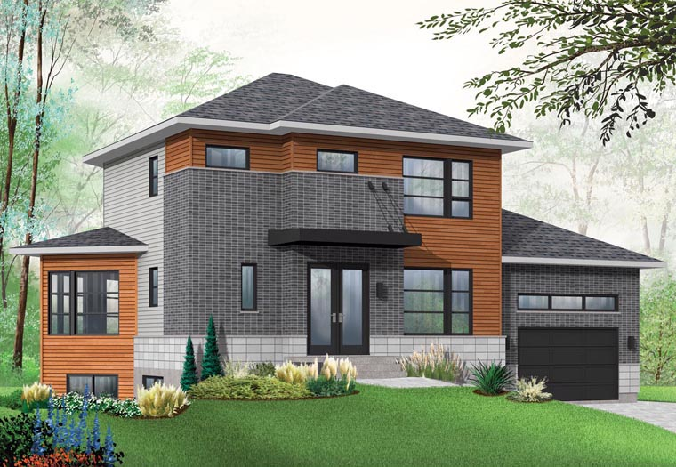 Contemporary House Plan 76393 Elevation