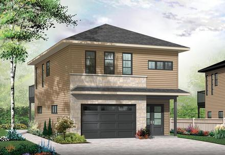 Contemporary Cottage Elevation of Plan 76395