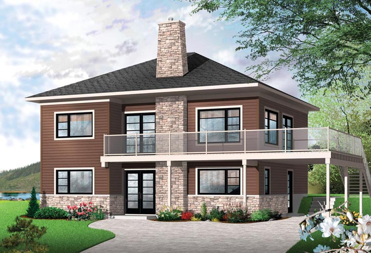 Contemporary Cottage House Plan 76397 Elevation