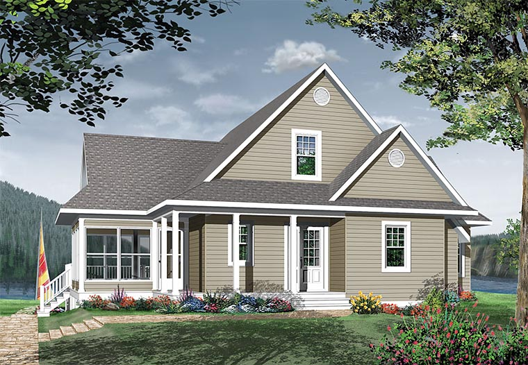 Coastal Country Traditional House Plan 76409 Rear Elevation