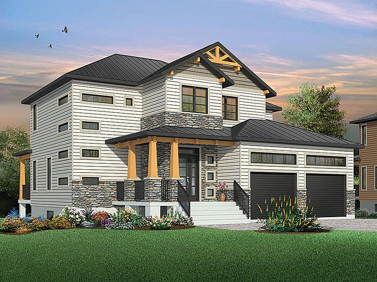 House plan 76419 at - Les plus beaux plans de maison du monde ...