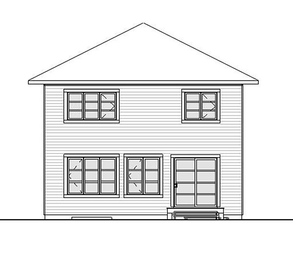 Contemporary European Traditional House Plan 76420 Rear Elevation