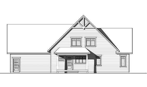 Country Craftsman Tudor House Plan 76422 Rear Elevation