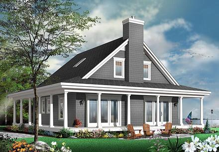 Contemporary, Country, Traditional House Plan 76423 with 4 Beds, 4 Baths
