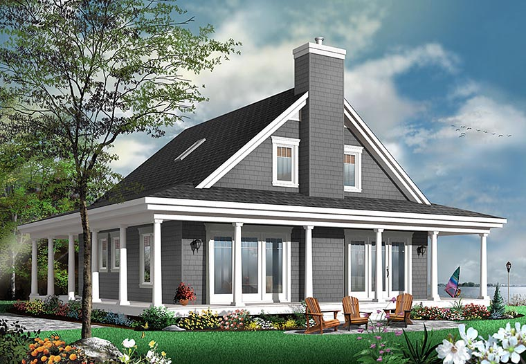Contemporary Country Traditional House Plan 76423 Elevation