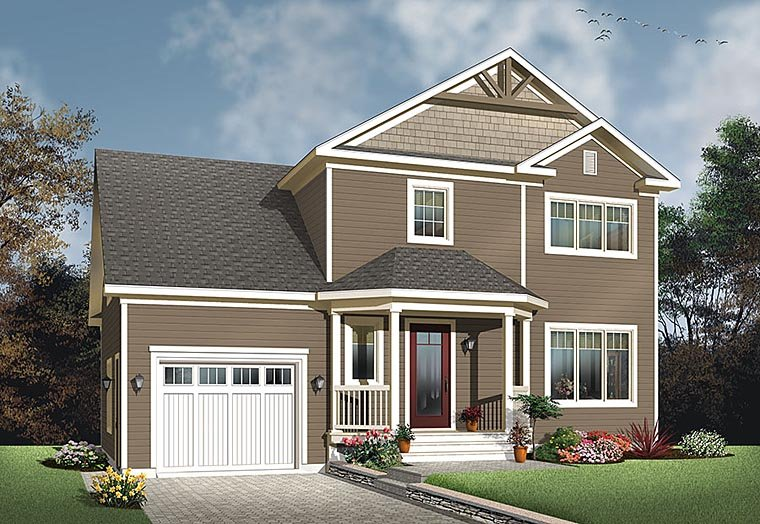 Colonial Country Traditional House Plan 76424 Elevation