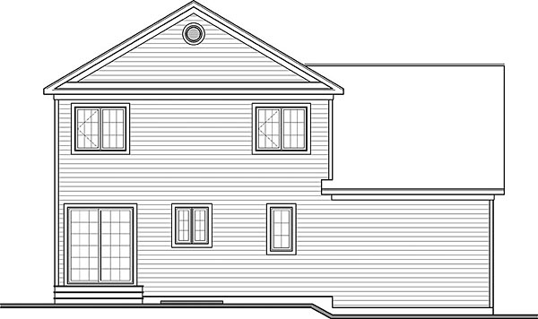 Colonial Country Traditional House Plan 76424 Rear Elevation