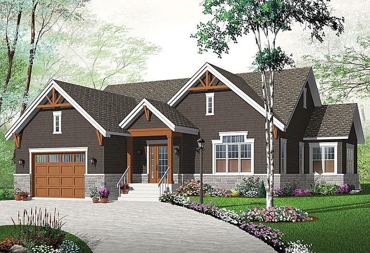 Craftsman Traditional Tudor House Plan 76433 Elevation