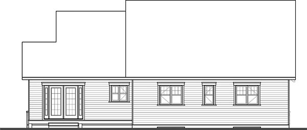 Craftsman Traditional Tudor House Plan 76433 Rear Elevation