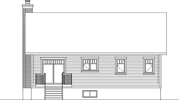 Ranch Traditional House Plan 76439 Rear Elevation