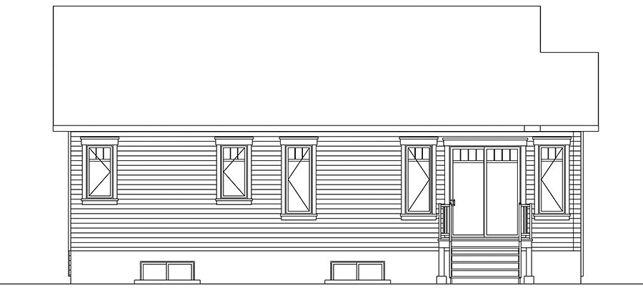 Country Traditional House Plan 76446 Rear Elevation