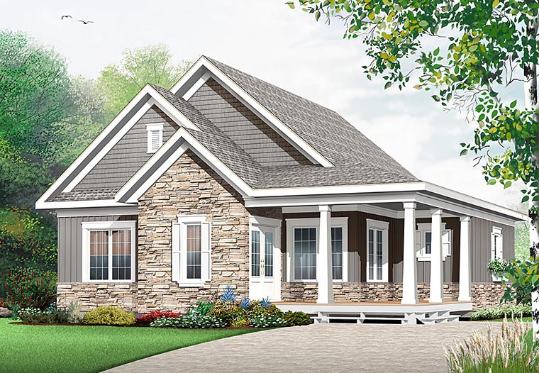 Cape Cod Cottage Country Craftsman House Plan 76448 Elevation