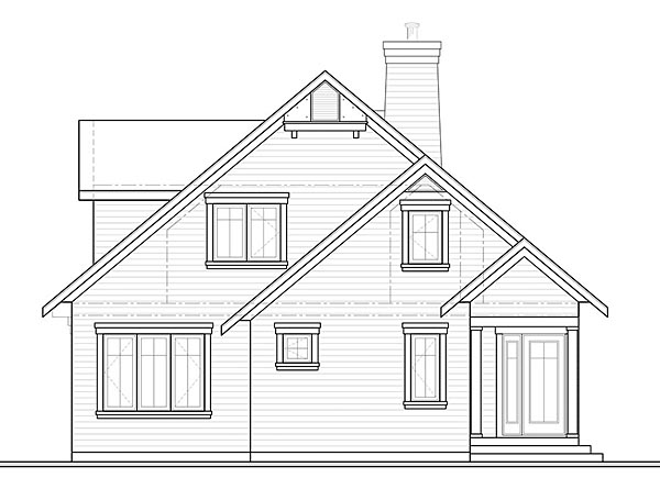 Cottage Southern Traditional House Plan 76452 Rear Elevation