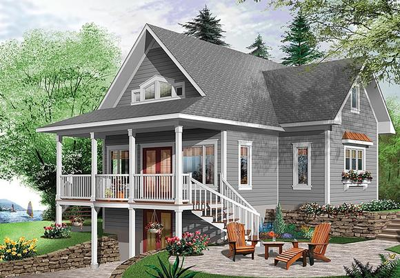 Bungalow, Cottage, Country, Traditional House Plan 76453 with 4 Beds, 3 Baths Elevation