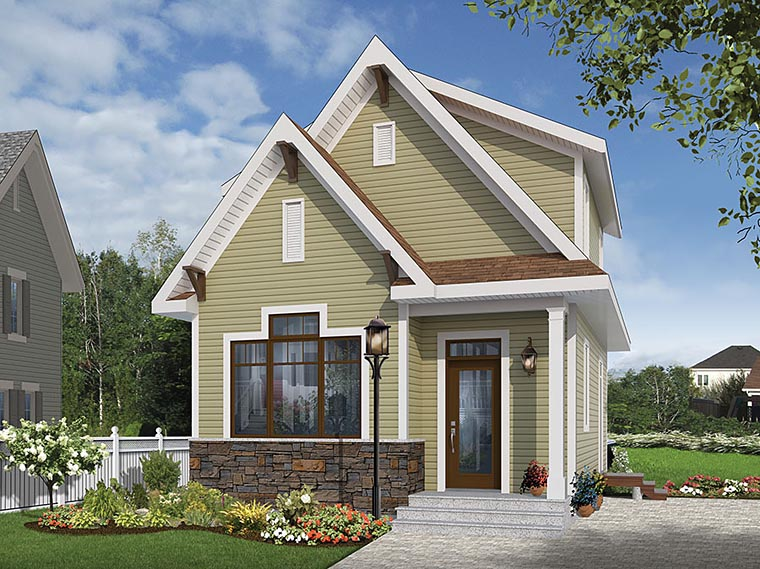 Cottage Country Craftsman Tudor House Plan 76458 Elevation