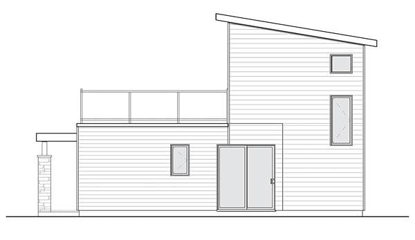 Contemporary Modern House Plan 76461 Rear Elevation