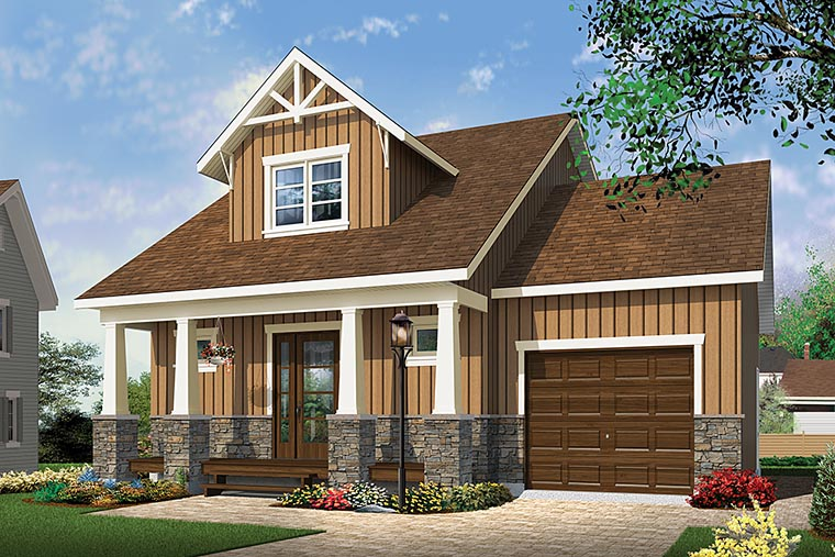 House Plan 76462 Cape Cod Cottage Country Craftsman
