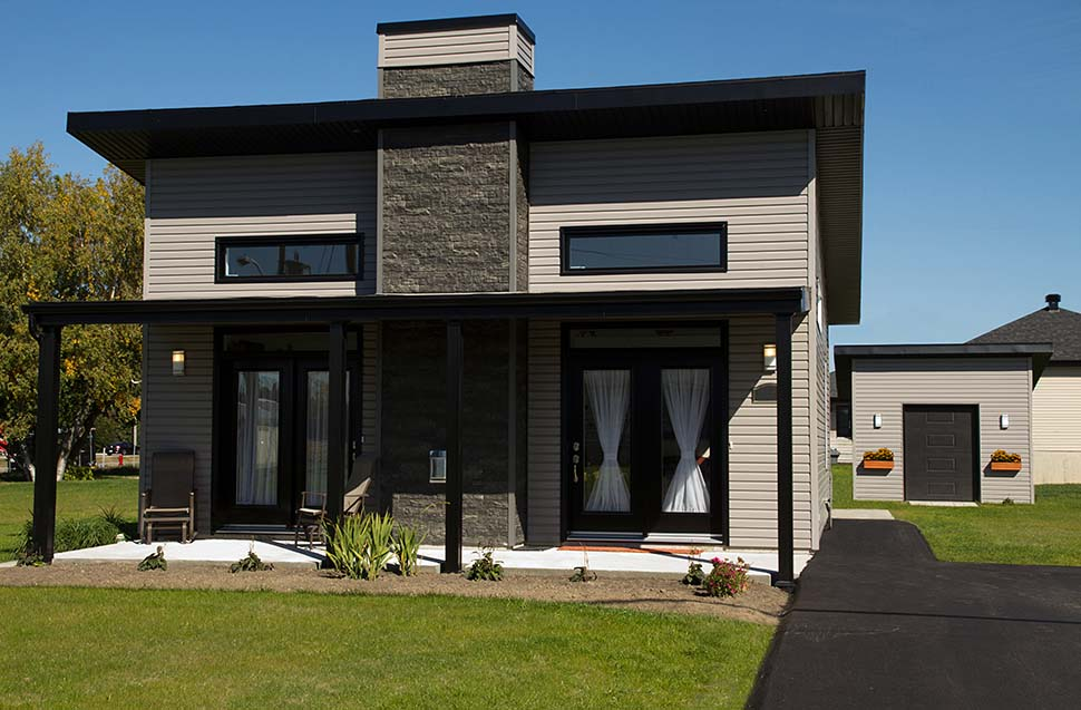 Contemporary, Modern House Plan 76474 with 2 Beds, 1 Baths Picture 3