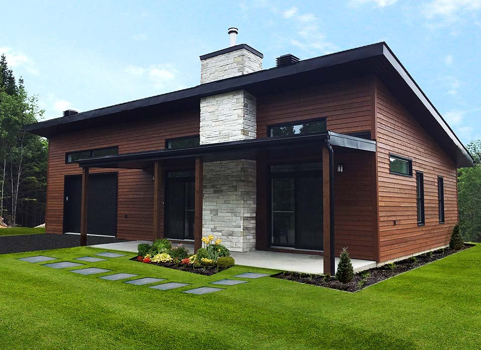 Contemporary, Modern House Plan 76474 with 2 Beds, 1 Baths Picture 4
