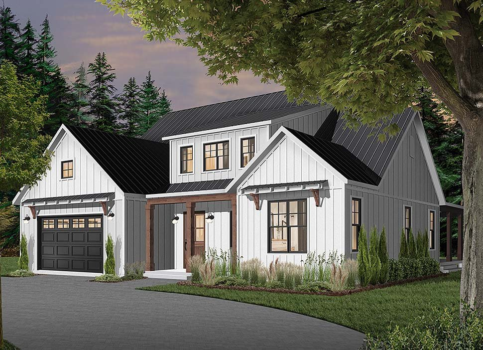 Cape Cod, Country, Craftsman, Farmhouse, Ranch House Plan 76521 with 4 Beds, 4 Baths, 3 Car Garage Elevation