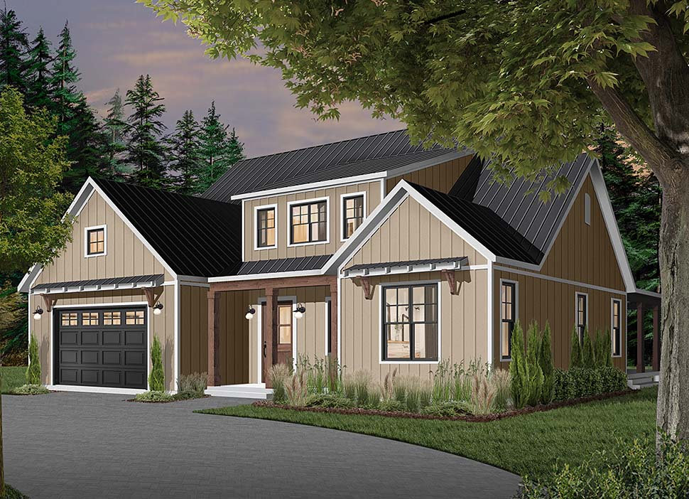 Cape Cod, Country, Craftsman, Farmhouse, Ranch House Plan 76521 with 4 Beds, 4 Baths, 3 Car Garage Picture 1