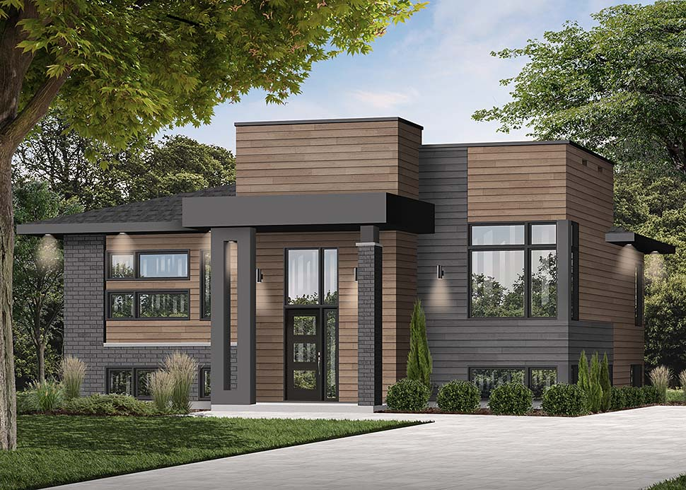 Contemporary, Modern House Plan 76535 with 2 Beds, 1 Baths Picture 1
