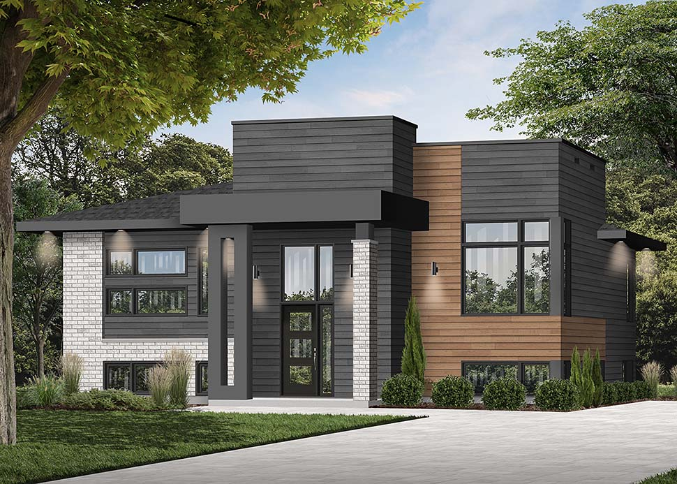 Contemporary, Modern House Plan 76535 with 2 Beds, 1 Baths Picture 2