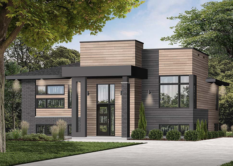 Contemporary, Modern House Plan 76535 with 2 Beds, 1 Baths Picture 3