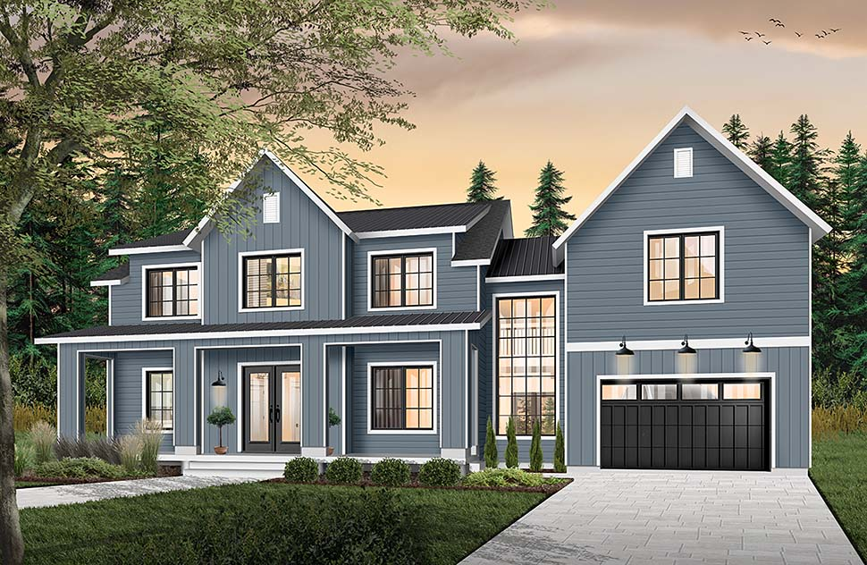 Colonial, Farmhouse, Traditional House Plan 76544 with 3 Beds, 3 Baths, 1 Car Garage Picture 4