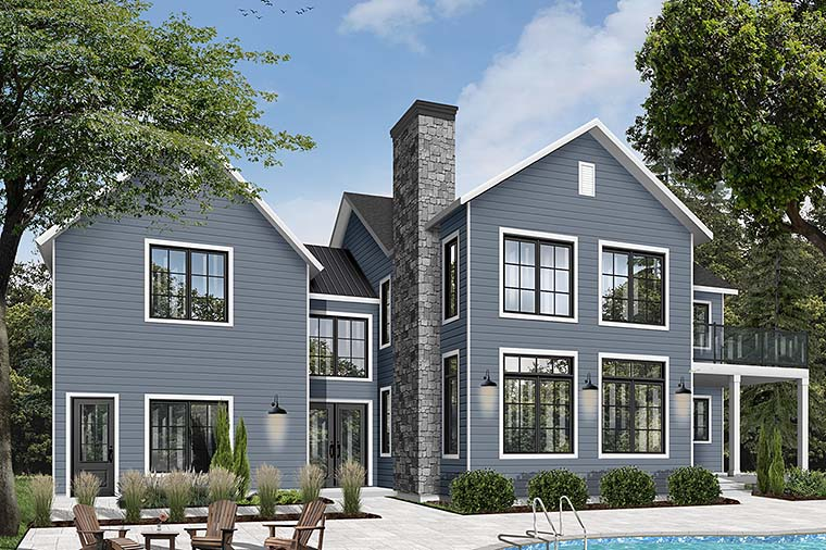 Colonial, Farmhouse, Traditional House Plan 76544 with 3 Beds, 3 Baths, 1 Car Garage Picture 5