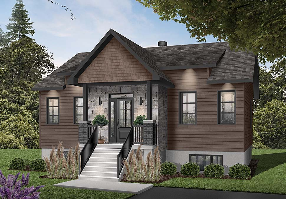 Contemporary, Cottage House Plan 76546 with 2 Beds, 1 Baths Picture 1
