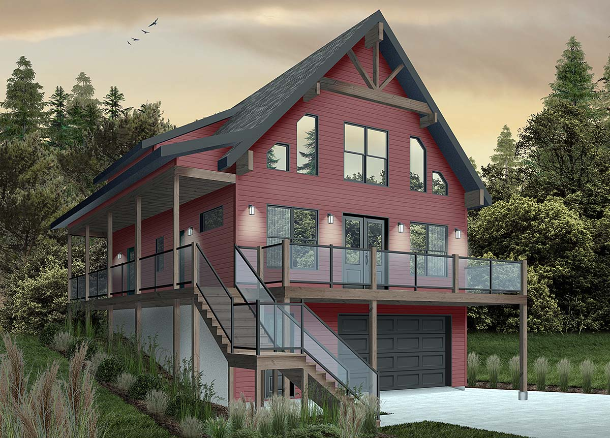 House Plan 76550 - Country Style with 2055 Sq Ft, 4 Bed, 3 Bath
