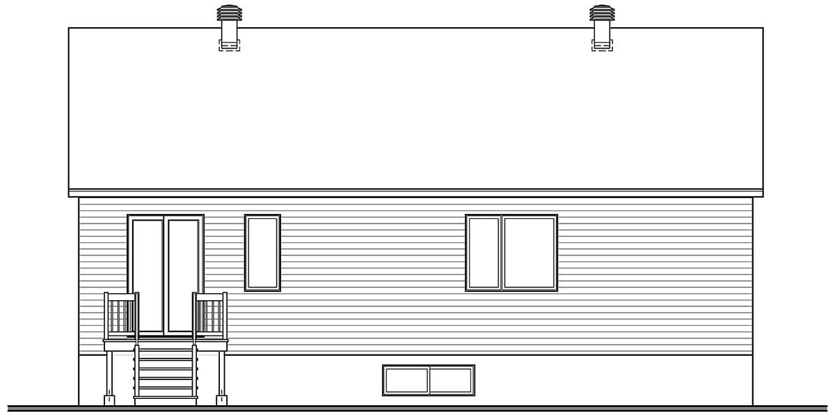Contemporary Modern Rear Elevation of Plan 76567