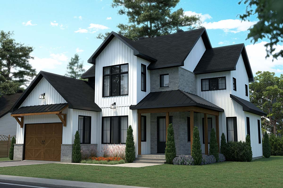 Country, Craftsman, Farmhouse House Plan 76569 with 3 Beds, 3 Baths, 1 Car Garage Picture 1