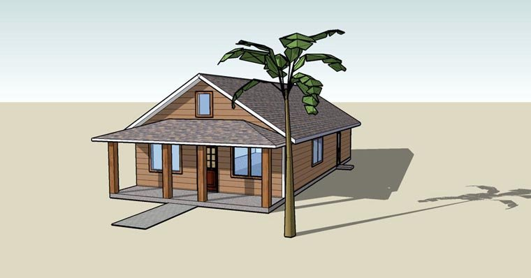 Bungalow, Craftsman, Southern House Plan 76810 with 3 Beds, 2 Baths Elevation