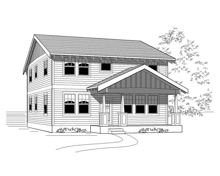 Craftsman House Plan 76823 Elevation
