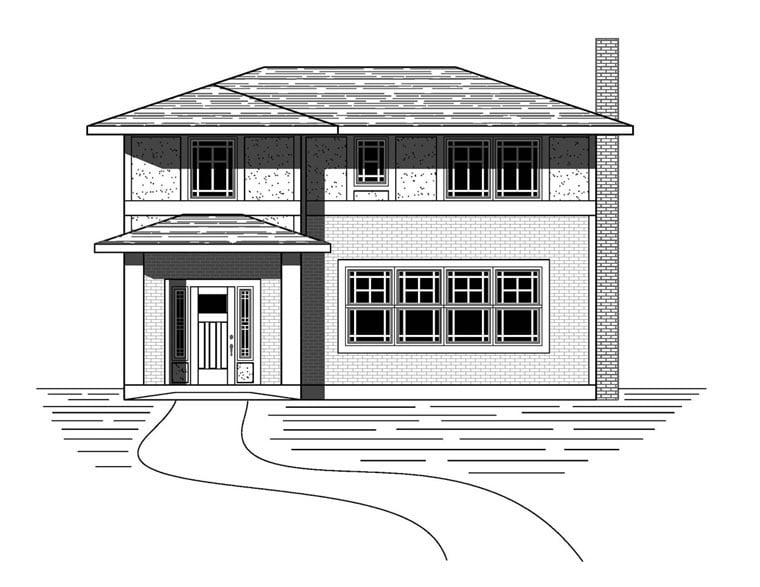 Craftsman Traditional House Plan 76824 Elevation