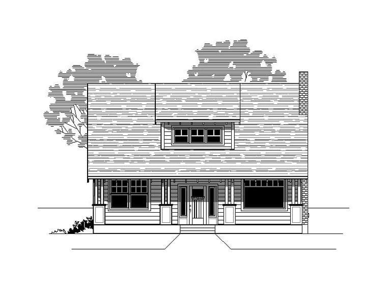 Bungalow Craftsman House Plan 76825 Elevation
