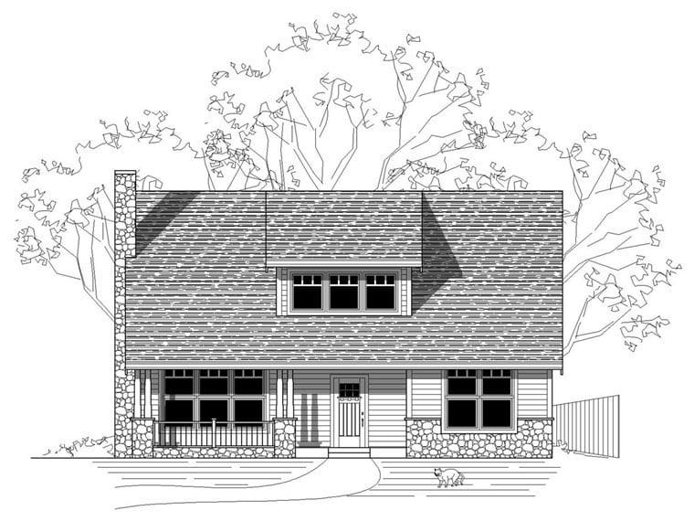 Craftsman Farmhouse Traditional House Plan 76827 Elevation