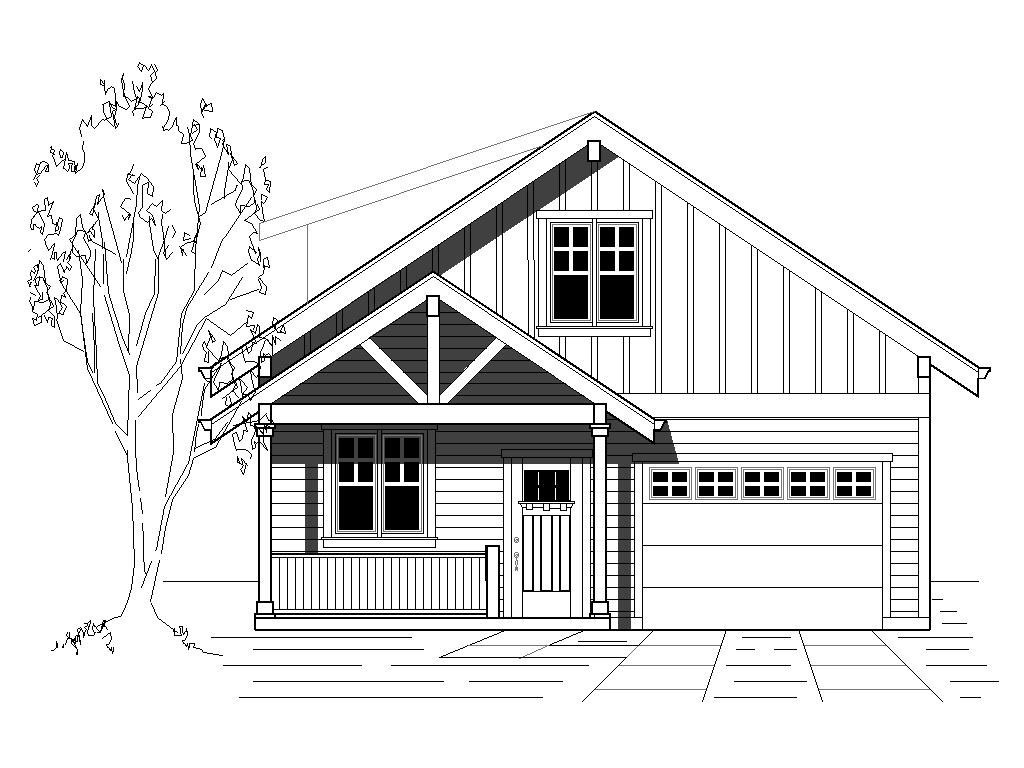 Bungalow Cottage Craftsman House Plan 76830 with 1850 Sq Ft, 4 Beds on 1825 sq ft. house plans, 1850 sq ft home, stair drawer plans, floor plans, 3 beds house plans,