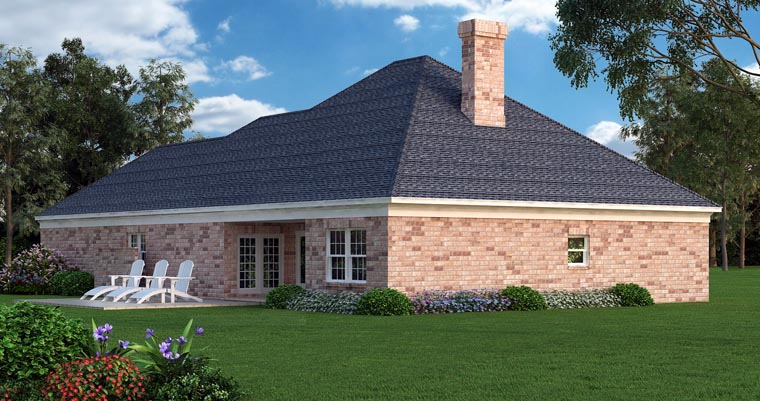 House Plan 76908 Rear Elevation