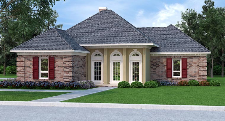 House Plan 76909 Elevation