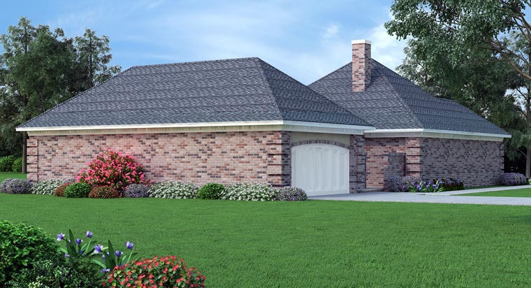 House Plan 76909 Rear Elevation