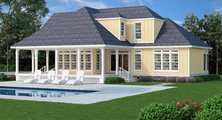 Country Farmhouse Traditional House Plan 76912 Rear Elevation