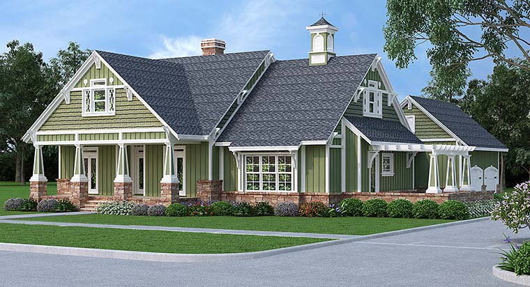 Bungalow Cottage Country Craftsman House Plan 76923 Elevation