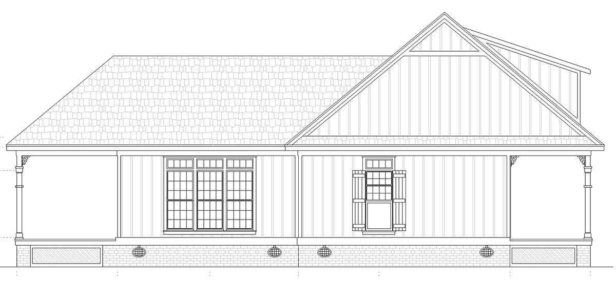 Cottage House Plan 76942 with 1 Beds, 2 Baths Picture 2