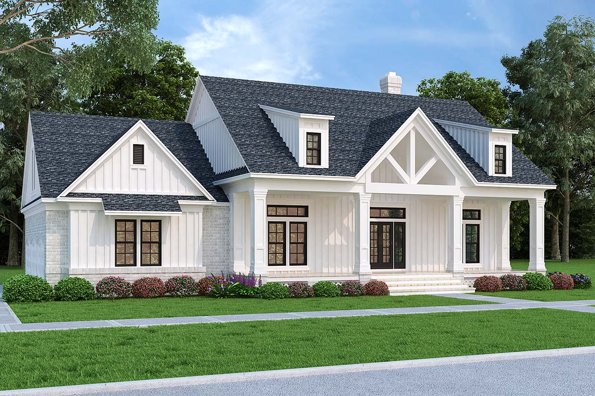 Farmhouse House Plan 76943 with 3 Beds, 2 Baths, 3 Car Garage Picture 1