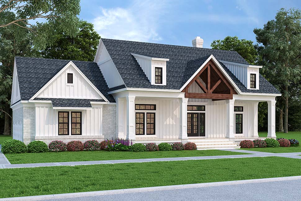 Farmhouse House Plan 76943 with 3 Beds, 2 Baths, 3 Car Garage Picture 2