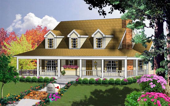 Country House Plan 77004 Elevation